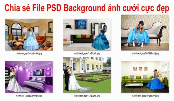 [PSD] Background ảnh cưới cực đẹp