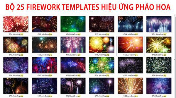 [PSD] Bộ 25 Firework Templates hiệu ứng pháo hoa