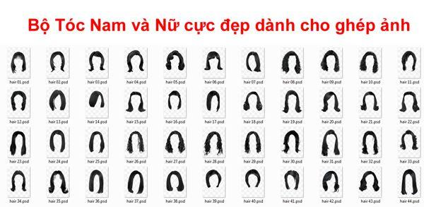 [PSD] Bộ Tóc Nam và Nữ cực đẹp dành cho ghép ảnh
