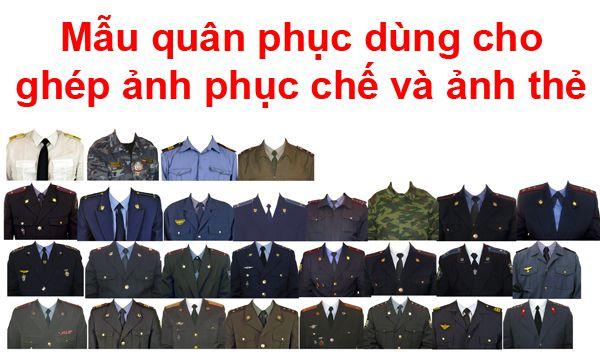[PSD] Mẫu quân phục dùng cho ghép ảnh phục chế và ảnh thẻ