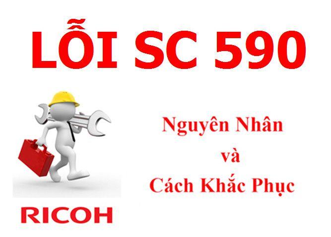 Máy Photocopy Ricoh báo lỗi SC 590 là lỗi gì và cách khắc phục