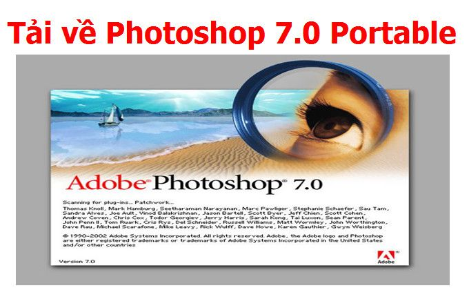 Adobe Photoshop 7.0 Full Portable không cần cài đặt