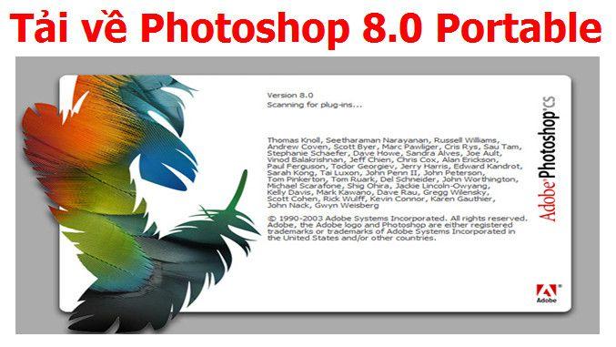 Adobe Photoshop 8.0 Full Portable không cần cài đặt