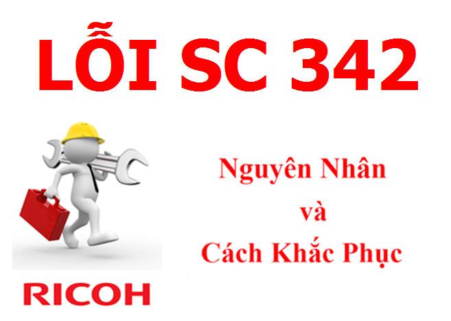 Máy Photocopy Ricoh báo lỗi SC 342 là lỗi gì và cách khắc phục