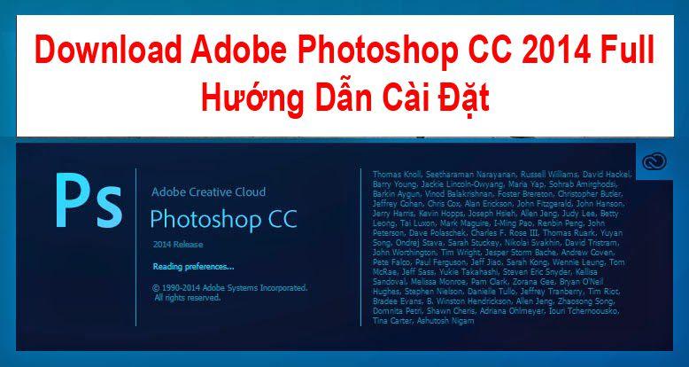 Download Adobe Photoshop CC 2014 Full + Hướng Dẫn Cài Đặt