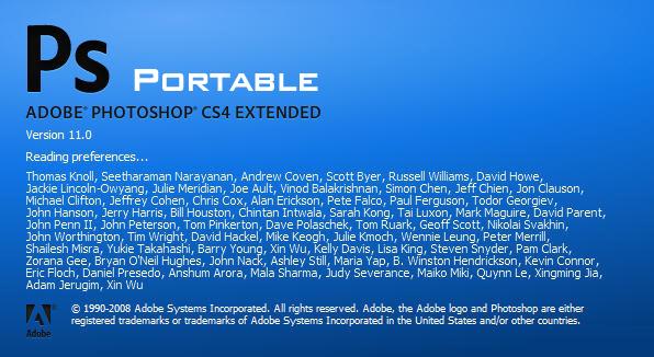 Adobe Photoshop CS4 Full Portable không cần cài đặt